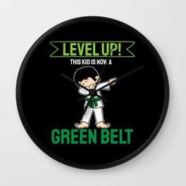 Green Belt Karate Taekwondo Kid GIft Wall Clock