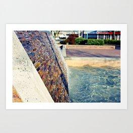 Waterfall Wall Version 2 Art Print
