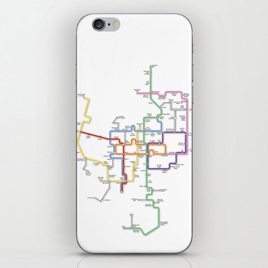 Minneapolis Skyway Map iPhone Skin