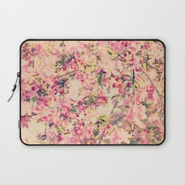 Vintage Pink Crabapple Tree Blossoms in the Sun Laptop Sleeve