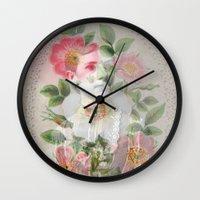 lana Wall Clocks featuring Lana by Monica Chulewicz