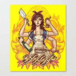 Cooking Goddess Canvas Print