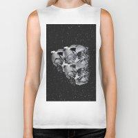 skulls Biker Tanks featuring Skulls by Mrs Araneae