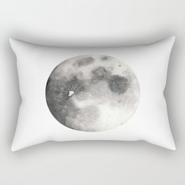 Super Moon Watercolor Rectangular Pillow