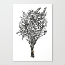 Dry Bouquet with Gold String Canvas Print