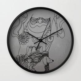 dackel & deer Wall Clock