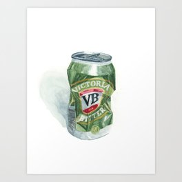 Crushed VB Beer Can - Victoria Bitter Art Print