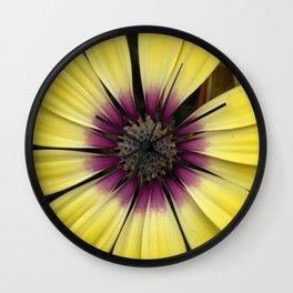 Yellow Calendula Wall Clock