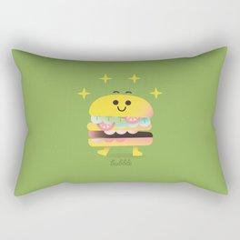 Dancing Burger Rectangular Pillow