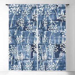 Indigo shibori tie dye Blackout Curtain