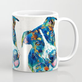 Colorful Dog Art - Happy Go Lucky - By Sharon Cummings Coffee Mug