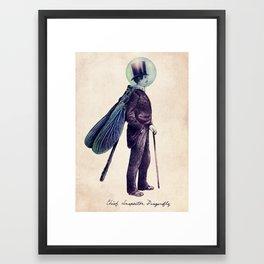 Inspector Dragonfly Framed Art Print