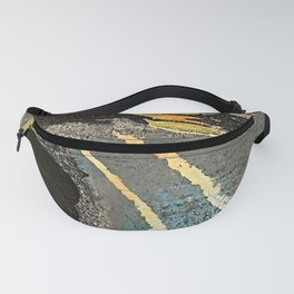 The Golden Path - an abstract, textured piece in neutrals by Jacob von Sternberg Art Fanny Pack