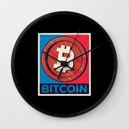 Bitcoin Poster Wall Clock