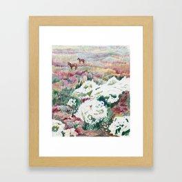 Wild chamomiles Framed Art Print