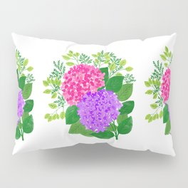 Pink and Purple Roses Pillow Sham