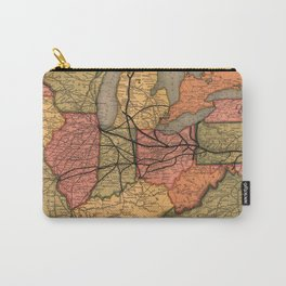 Vintage Ohio River Valley Railroad Map (1874) Carry-All Pouch