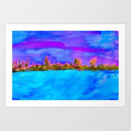 Surreal Abstract Landscape Art Print
