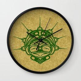 Grass Frog Sand Wall Clock