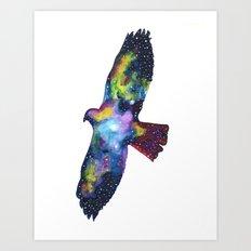 Red Tail Hawk Nebula Art Print