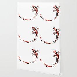 Black and Red Koi Fish Wallpaper