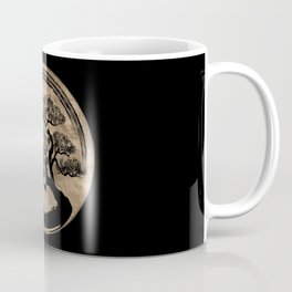 Enso Zen Circle and Bonsai Tree Gold Coffee Mug