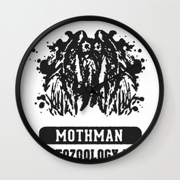 WEST VIRGINIA MOTHMAN CRYPTOZOOLOGY T-SHIRT Wall Clock