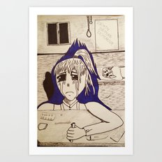 Suicidal Girl Art Print
