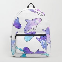 Galaxy Shark Print Backpack