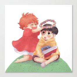 Ponyo loves Sosuke Canvas Print