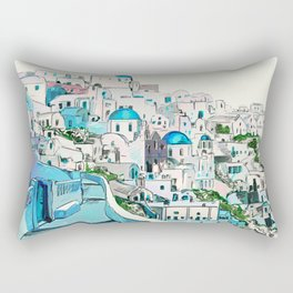Santorini Oia Rectangular Pillow