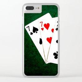 Blackjack Twenty One Clear iPhone Case