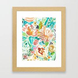 SANTA CRUZ FLORAL Framed Art Print