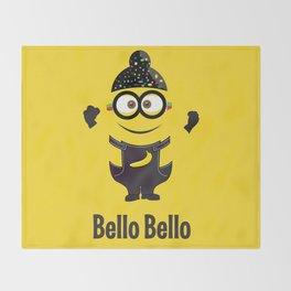 Bello Singh Punjabi (Balle Balle) Minion Inspired Parody Throw Blanket