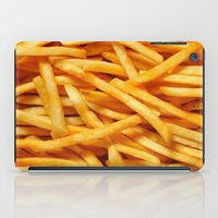 fries iPad Cases featuring French Fries by I Love Decor