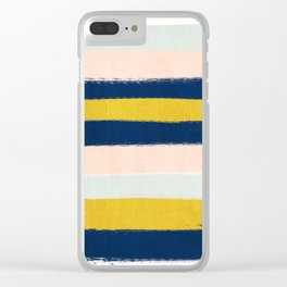 Stripes minimal trendy color palette gold silver metallic minimal home decor Clear iPhone Case
