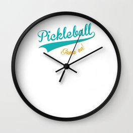 Pickleball Old School Game On Wall Clock