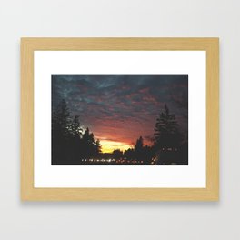 southbound skies. Framed Art Print