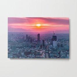 Sunset over Tokyo Metal Print