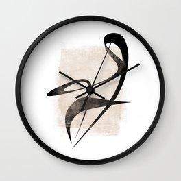 Interlocking Six | Minimalist Line Abstract Wall Clock