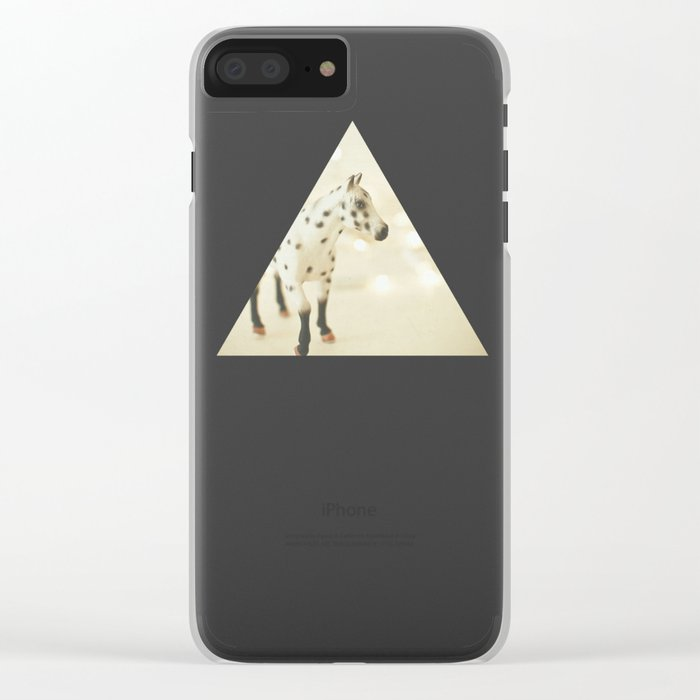 Horse in Winter Clear iPhone Case
