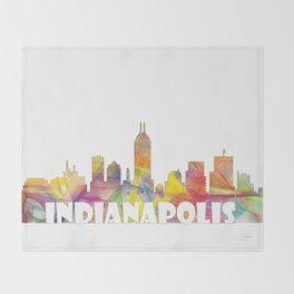 Indianapolis Indiana  Skyline MCLR 2 Throw Blanket