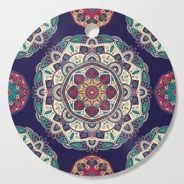 Colorful Mandala Pattern 007 Cutting Board