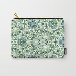 Green petal kaleidoscope  Carry-All Pouch