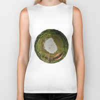 planet Biker Tanks featuring Planet by Goga