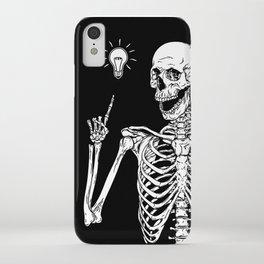 Skeleton got an idea iPhone Case