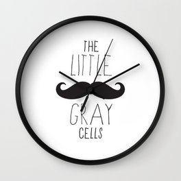 Poirot - The Little Gray Cells Wall Clock