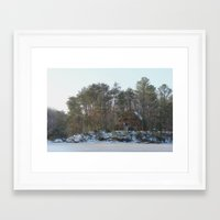 cabin Framed Art Prints featuring Cabin by Glasnero