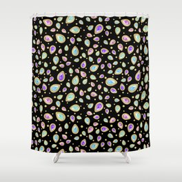 Colored diamonds (black) Shower Curtain