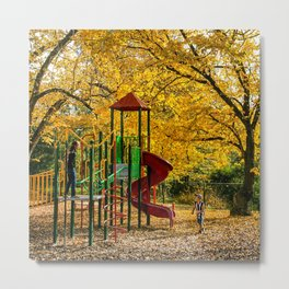 Autumn Leaves, Country Victoria Metal Print